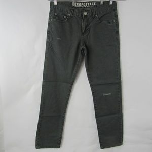 Aeropostale Jeans Bowery Slim Straight Button Fly